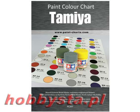Paint Colour Chart Tamiya 20 Mm Pjb Pc207