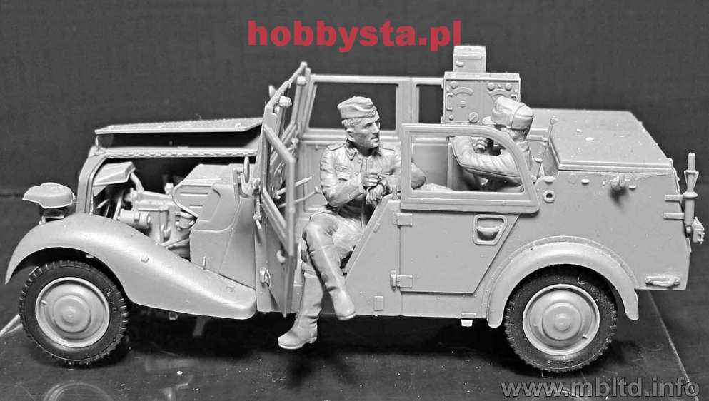 German Military Radio Car Sd Kfz 2 Type 170vk With Crew