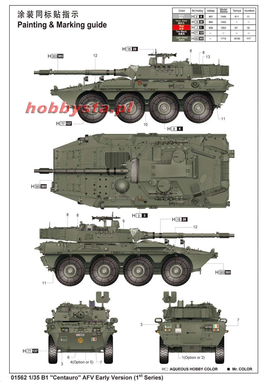 B1 Centauro Afv Early Verslon 1 Quot Series Trumpeter 01562